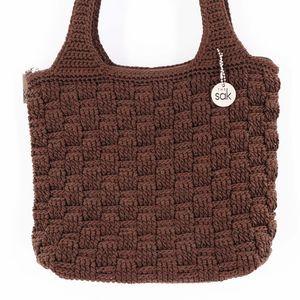 The Sak Brown Knit Shoulder Bag